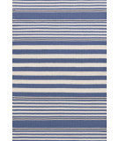 RugStudio presents Dash And Albert Beckham Stripe Denim Woven Area Rug